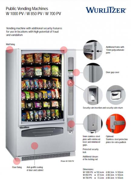 Verkaufsautomat Wurlitzer 1000 - Public vending